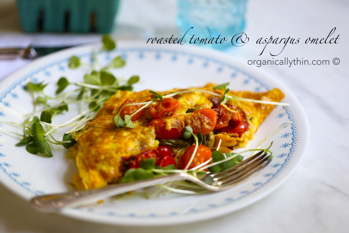 Roasted Veggies Omelet
